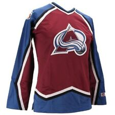 $120 Authentic CCM 550 Ice Hockey Jersey Colorado Avalanche Home Burg Womens XS