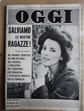 OGGI n°15 1961 Giovanna Ralli - Tragedia treno Galleria Bonassola  [G743]