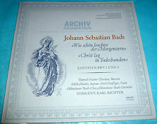 J.S. Bach - Cantatas 1 & 4, Fischer-Dieskau, Edith Mathis, Richter Archiv LP