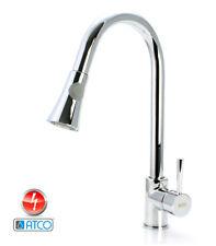 ATCO® Niederdruck Wasserhahn Armatur Spültisch Küchenarmatur Brause Ausziehbar