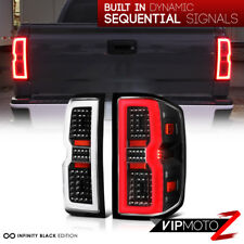 """LATEST DESIGN"" 14-18 Chevy Silverado 1500 2500 3500 LED Black Tail Lights Pair"