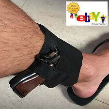 Stealth Concealed Carry Gun Ankle Leg Holster Secure Open Top Fits Most Handguns