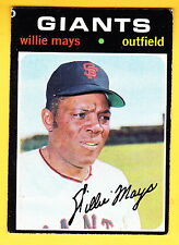 1971 TOPPS #600 WILLIE MAYS GIANTS