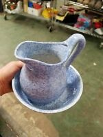 Vintage Gailstyn-Sutton Stoneware Bleu Cordon Cook~n~Serve Pitcher & bowl w/tags