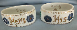 Vintage Porcelain Napkin Rings (HIS & HERS)