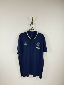 Adidas Manchester United 2016-2017 Gray Training Polo Shirt Men Size: XXXL
