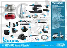 Kit restauro completo ricambi Vespa 50 Special 3 e 4 Marce
