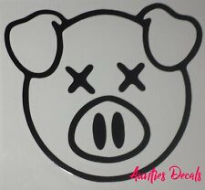 Shane Dawson PIG Iron On Decal (6 X 6 Inches) BLACK