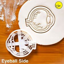 Anatomical Eyeball cookie cutter (Side View) | halloween anatomy biscuit cutter