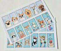8-24 Happy Unicorn Square STICKERS SCRAPBOOKING CRAFT EMBELLISHMENT 1