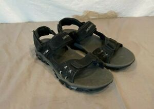 Merrell Moab Drift Black Suede Sport Sandals w/Select Grip Soles US 8 EU 41