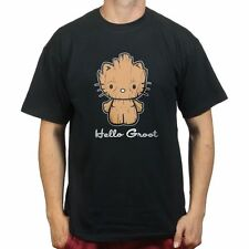Hello Groot Kitty Guardians of a Galaxy dvd T-shirt P976
