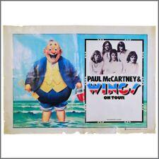 Paul McCartney Wings Fatman 1973 Concert Tour Poster (UK)
