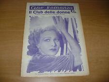 CINEMA CINE-ROMANZO 328 1932 IL CLUB DELLE DONNE BLANCHE SWEET TOM MOORE S.STARR
