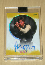 2017 Topps Star Wars Stellar Signatures GOLD autograph Harrison Ford 3/5