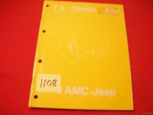 ORIGINAL FACTORY ISSUED AMC / JEEP TRANSMISSION MANUAL T.A. 700-900 SERIES