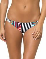 Red Carter Womens Swimwear Black Size 4 Geo Reversible Bikini Bottom $72 024