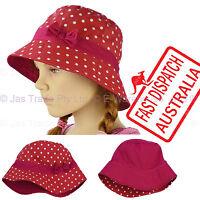 Kid Girl  Child Toddler Bucket Sunhat Sun Hat Cap Polka Dot Reversible Cotton