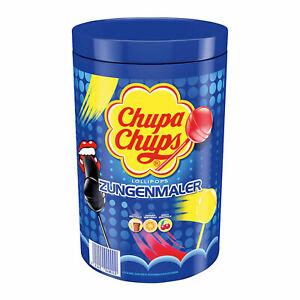 Chupa Chups Lollipops Zungenmaler Lutscher 100St. je 12g in der Dose
