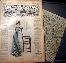 LA MODE ILLUSTREE + PATRON,  n° 19/1908 Voir modèles à réaliser, FRENCH PATTERN