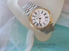 Tiffany & Co. Portfolio Stainless Steel and 18K Gold Tone Men's Watch 8""