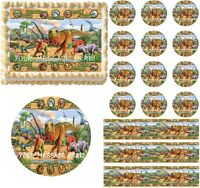 DINOSAURS Edible Cake Topper Image Frosting Sheet - Dinosaurs Cake Decoration