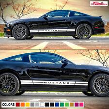 Decal Vinyl Sticker Side Rocker Stripes for Ford Mustang GT 500 Door Panel Hood