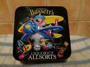 Vintage Bassetts Liquorice Allsorts Tin collectable Empty - aeroplane Bertie