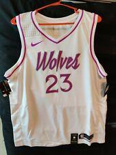 Nike NBA Jimmy Butler Minnesota Timberwolves Jersey White Purple NEW Size XL 52