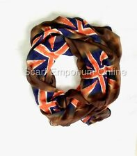 GIORNALE Bandiera Uk Stampa Sciarpa Donna Look Vintage Union Jack NEW FASHION
