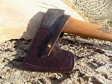 HAND-MADE BROWN LEATHER SHEATHS  GRANSFORS BRUKS  SMALL FOREST AXE  Brown