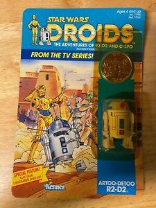 Star Wars Droids R2-D2 Figure - 1985 Kenner 12-Back - Unopened Unpunched MOC