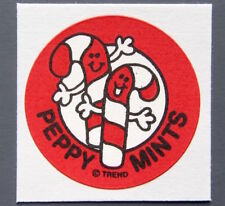 Vintage TREND Stinky Stickers PEPPERMINT matte Scratch-N-Sniff sticker
