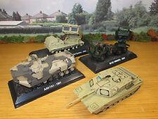 64FP 4 DIECAST 1/72 U.S. DESERT STORM & IRAQ WAR II ARMOR AAVP7A1 M270 MI42 M1A1