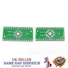 2 lato PCB QFN32 a QFP32 0.8mm/0.65mm Adattatore lato Pin Board PIASTRA IC