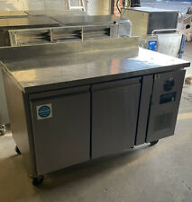 More details for polar counter 2 door freezer with upstand 282 ltr - dl916  catering double door