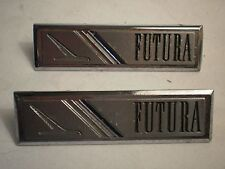 1964-65 Ford Falcon Futura Orig Side Door Panel Emblem Set