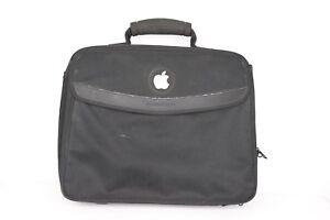 Vintage 90s Apple Inc Logo Employee Handled Travel Laptop Briefcase Bag Black