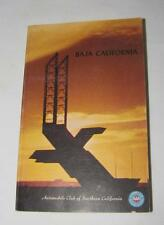 VINTAGE AAA BAJA CALIFORNIA TRAVEL BOOK 1975