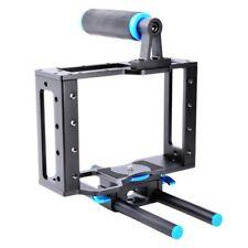 Aluminum DSLR Camera Cage Kit + 15mm Rod Rig for Nikon Canon Sony DSLR Cameras