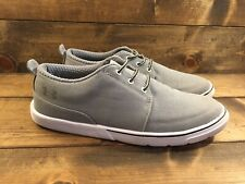 Under Armour Casual Slip On Gray Canvas Shoes Men's Size 8