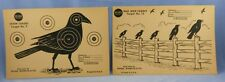 Pair of Vintage Crow TARGETS 1960's SEARS ROEBUCK & CO. for 22 ammo or bbs