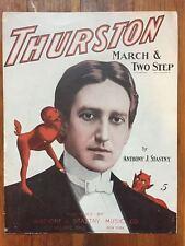 Howard Thurston 1911 MAGICIAN Magic devils ART Original sheet music IMP vintage