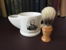 Vintage Wade Gentlemans Shaving Mug & Brush, Horatio Nelson Decoration