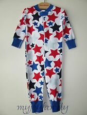 HANNA ANDERSSON Baby Organic Zip Sleeper Patriotic Stars 60 6-9 months NWT