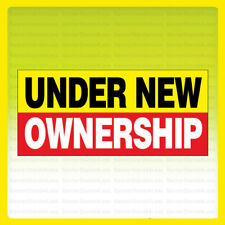 Under New Ownership Vinyl Banner Sign New 2x4 ft - yrb