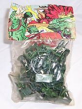 Vintage Toy Soldiers Plastic Army Men, New in Package. F&M Dime Store Item.
