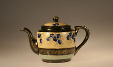 Nippon Handpainted Art Nouveau Blue Floral Teapot, Japan c. 1915
