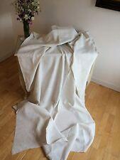 Antique 1800s Homespun Hemp Linen Sheet Heavy Rustic Copper Bath Liner Grainsack