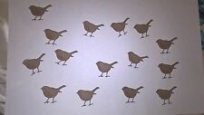 15 x SMALL DIE CUT HAND FINISHED ROBINS FOR CHRISTMAS CARD TOPPERS